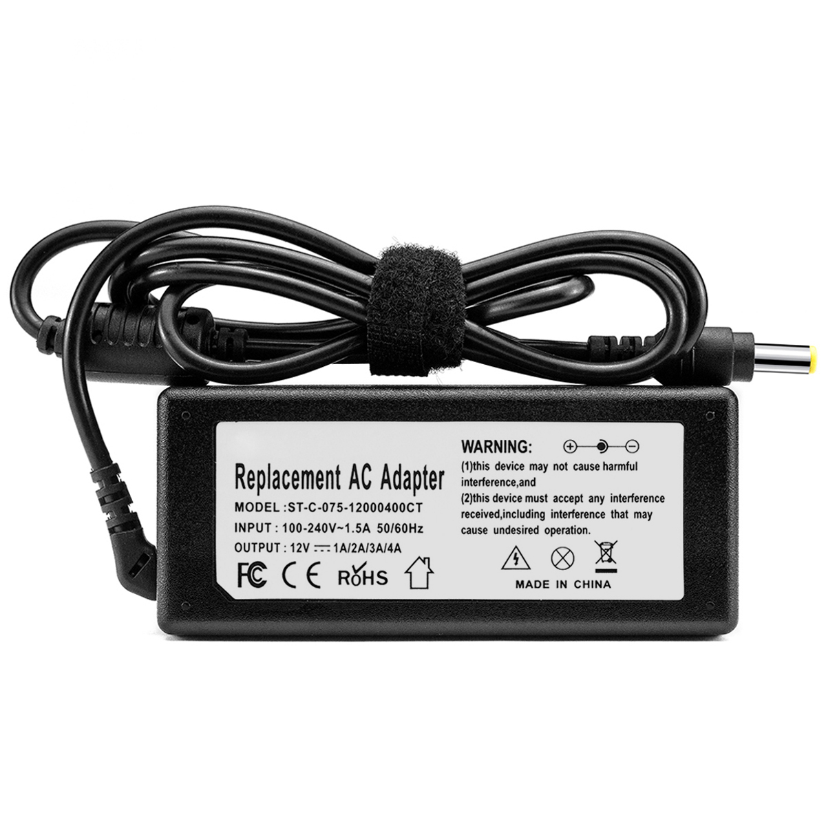 Sunydeal 12V 3A DC Power Supply 3 Amp 12 Volt Adapter For LCD Screen LCD Monitor Cord