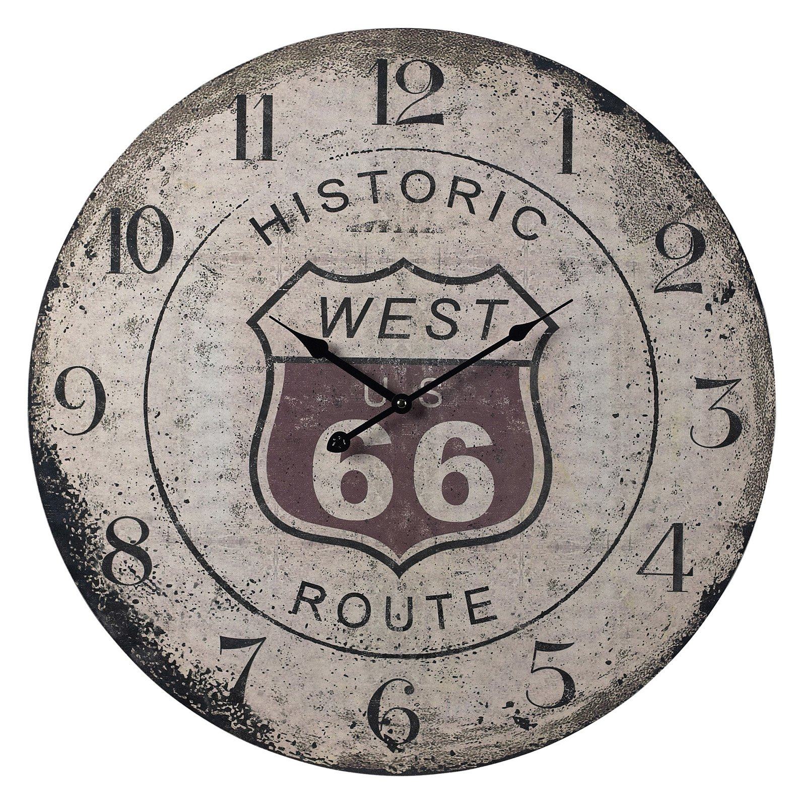 Elk Lighting Route 66 Distressed Oversized 24 in. Wall Clock