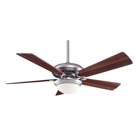 Minka Aire F569-BS/DW Supra 52 in. Indoor Ceiling Fan - Brushed Steel with Dark Walnut Blades ()