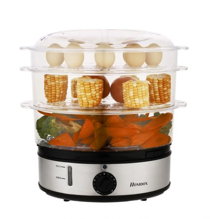 large capacity Three Tiers Electric Food Steamer Cooker Home Kitchen Favor BTC