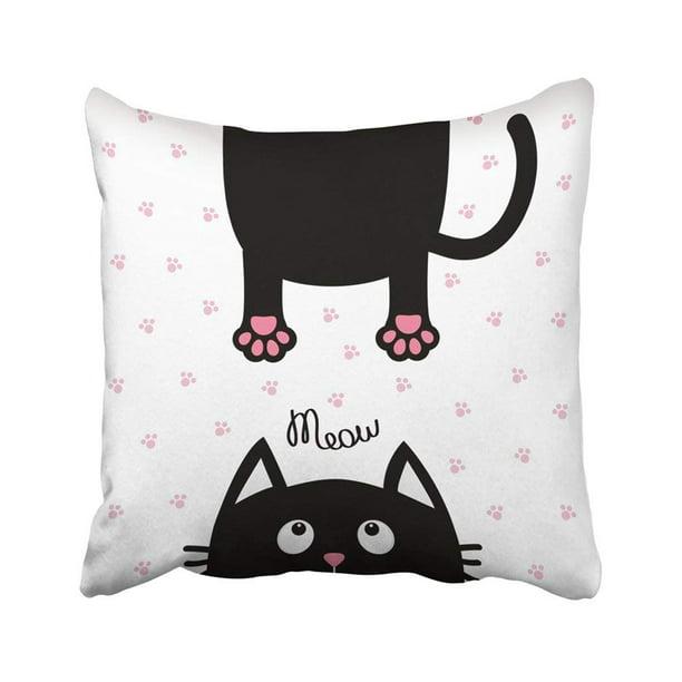 Black Cat Face Cushion