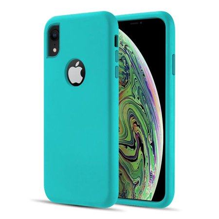 iPhone TCAIPXR-DMX-TLTL The Dual Max Series 2 Tone TPU & PC Cover Hybrid Protection Case for Iphohe XR - Teal &