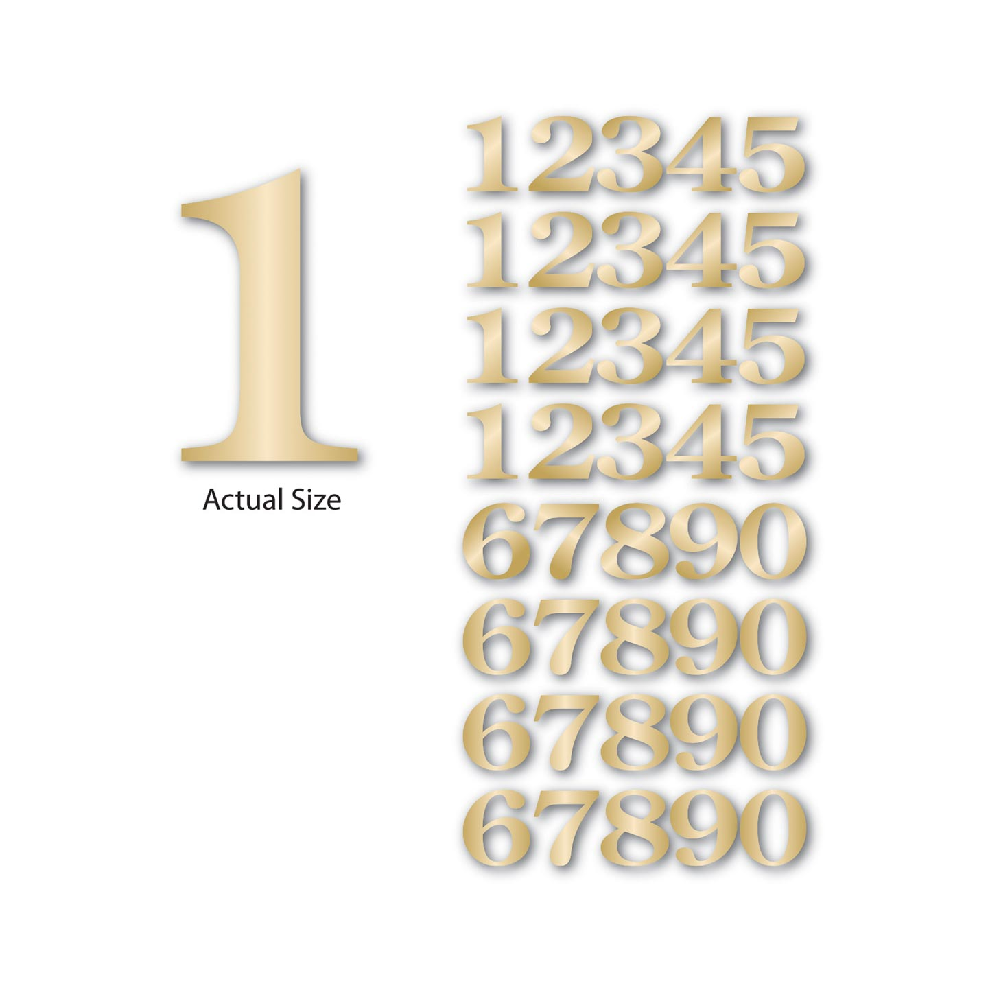 Themed Chipboard Sets Numbers