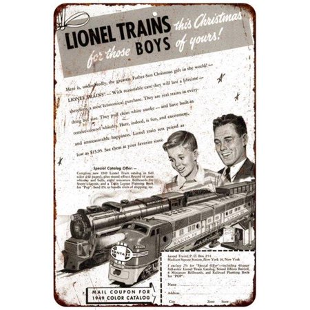 1949 Lionel Trains Catalog Vintage Look Reproduction 8X12 Metal Sign 8120948