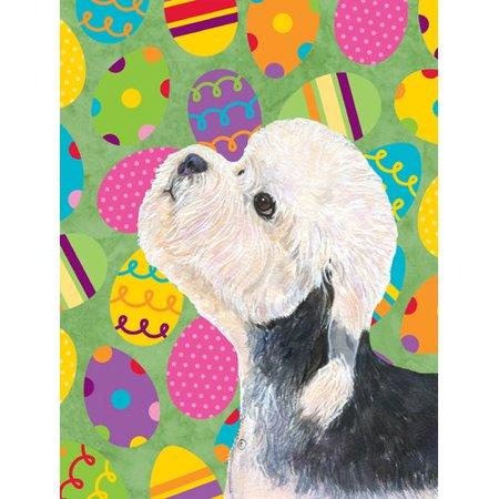 Caroline's Treasures Dandie Dinmont Terrier Easter Eggtravaganza 2-Sided Garden Flag