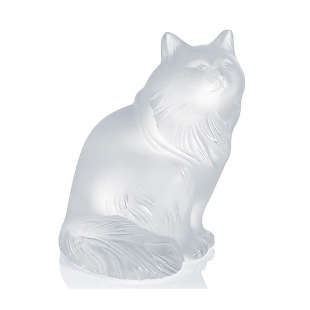 Lalique Sculpture Clear Figurine HEGGIE CAT #1179600