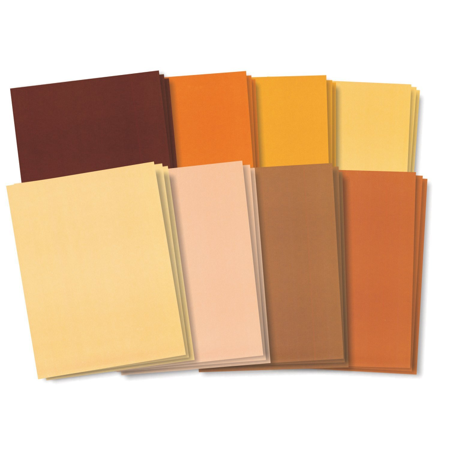 Skin Tone Designs Paper, Eight Flesh tones for self-portraits, puppets and paper dolls By Roylco Ship from US