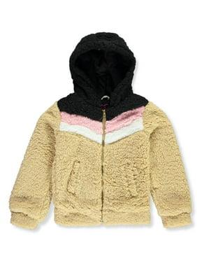 Chillipop Girls' Chevron Sherpa Hooded Jacket