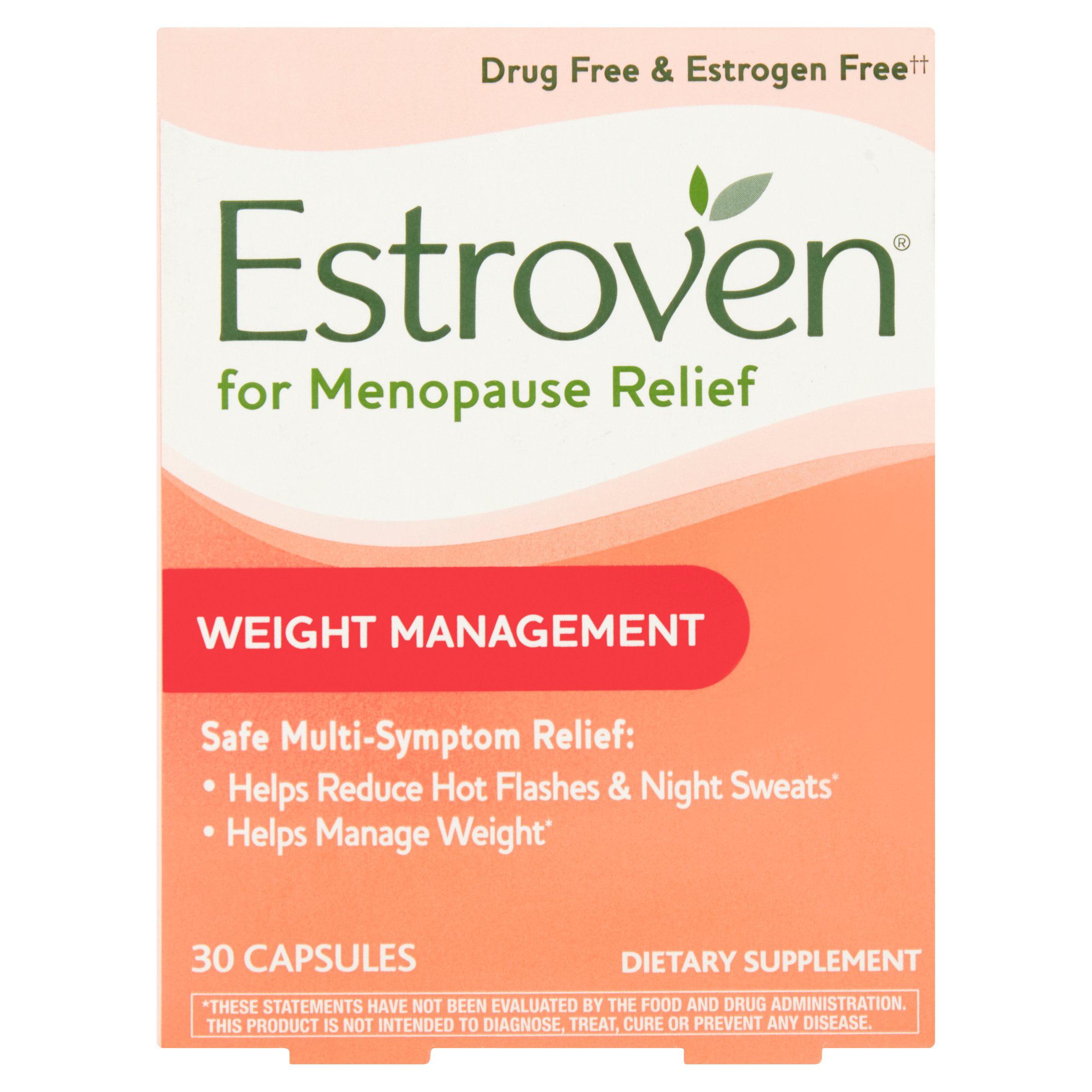 Estroven Weight Management Menopause Relief Capsules, 30 Ct