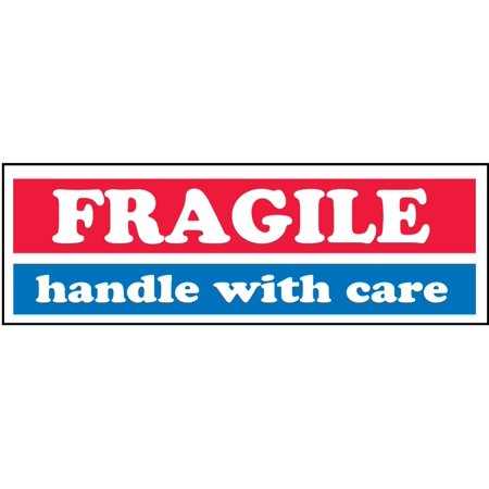 fragile handle with care shipping mailing labels 1 x 3 inches