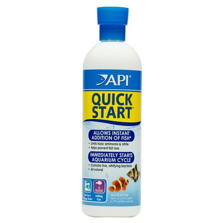 Freshwater Salt - API Quick Start, Freshwater And Saltwater Aquarium Nitrifying Bacteria, 16 oz