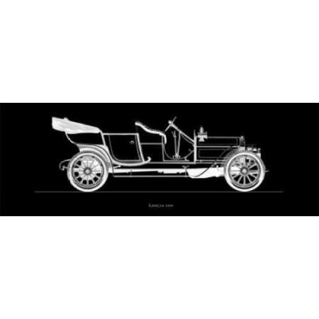 Lancia 1909 Canvas Art - Antonio Fantini (12 x 36)