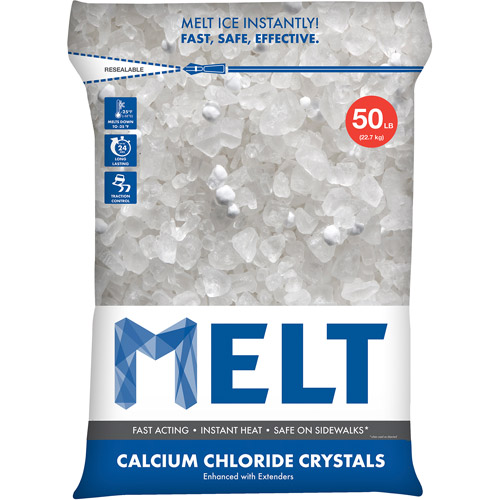 Snow Joe MELT Calcium Chloride Crystals Ice Melter (50 lb. Resealable Bag) – MELT50CC