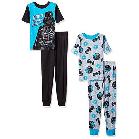 Star Wars Little Boys 4 Piece Cotton Pajamas Set Chewbacca Stormtrooper Darth Vader (Chewbacca Onesies)