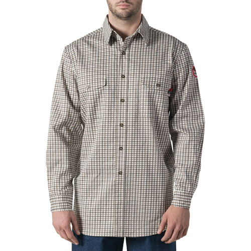Walls FR Big Men's Flame Resistant Plaid Work Shirt, HRC Level 2