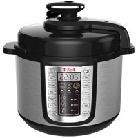 T-fal CY505E51 6-Quart 12-in-1 Programmable Electric Multi-Functional Pressure Cooker (Stainless Steel/Black)