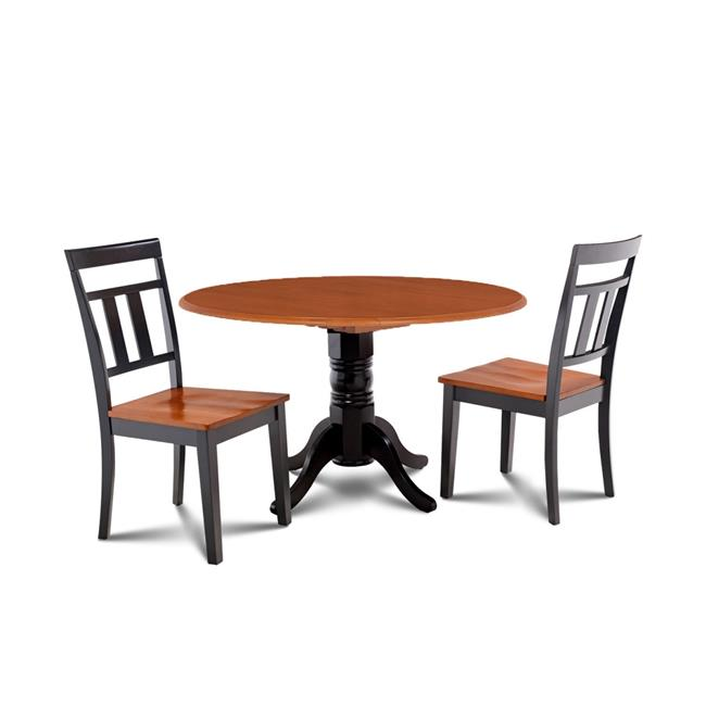 Mu0026D Furniture BUWE3 BLC W Burlington 3 Piece Small Kitchen Table Set Kitchen