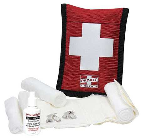 Bloodstopper Dressing Kit Fabric Case, 7 Pcs., 1 Person FIRST AID ONLY 7165G