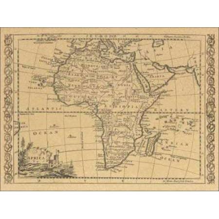Africa 1800 Canvas Art - World Map (18 x 24) - Walmart.com