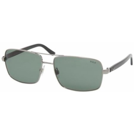 Ralph Lauren Polo 3040 Antique Gold Frame/Brown Lens Metal Sunglasses ()