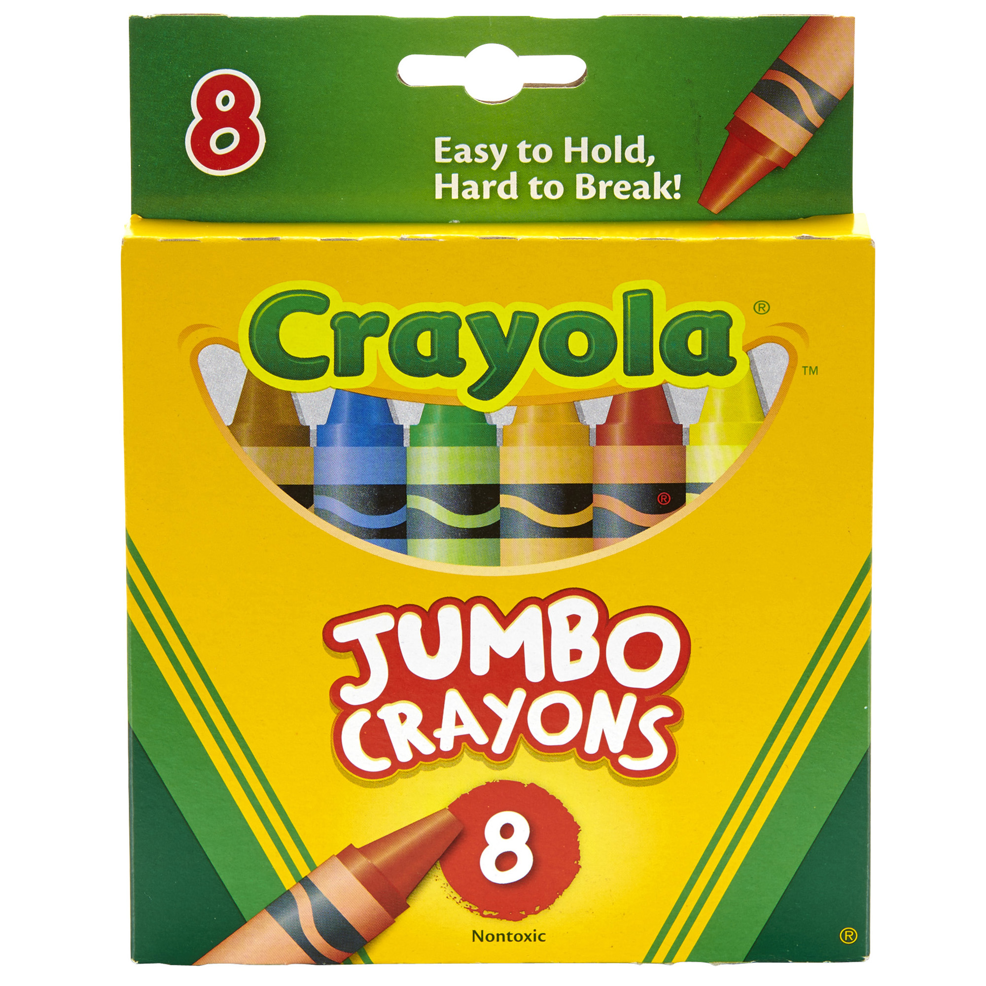 Crayola Crayons, Jumbo Size, 8 Colors Per Box, Set Of 6 Boxes