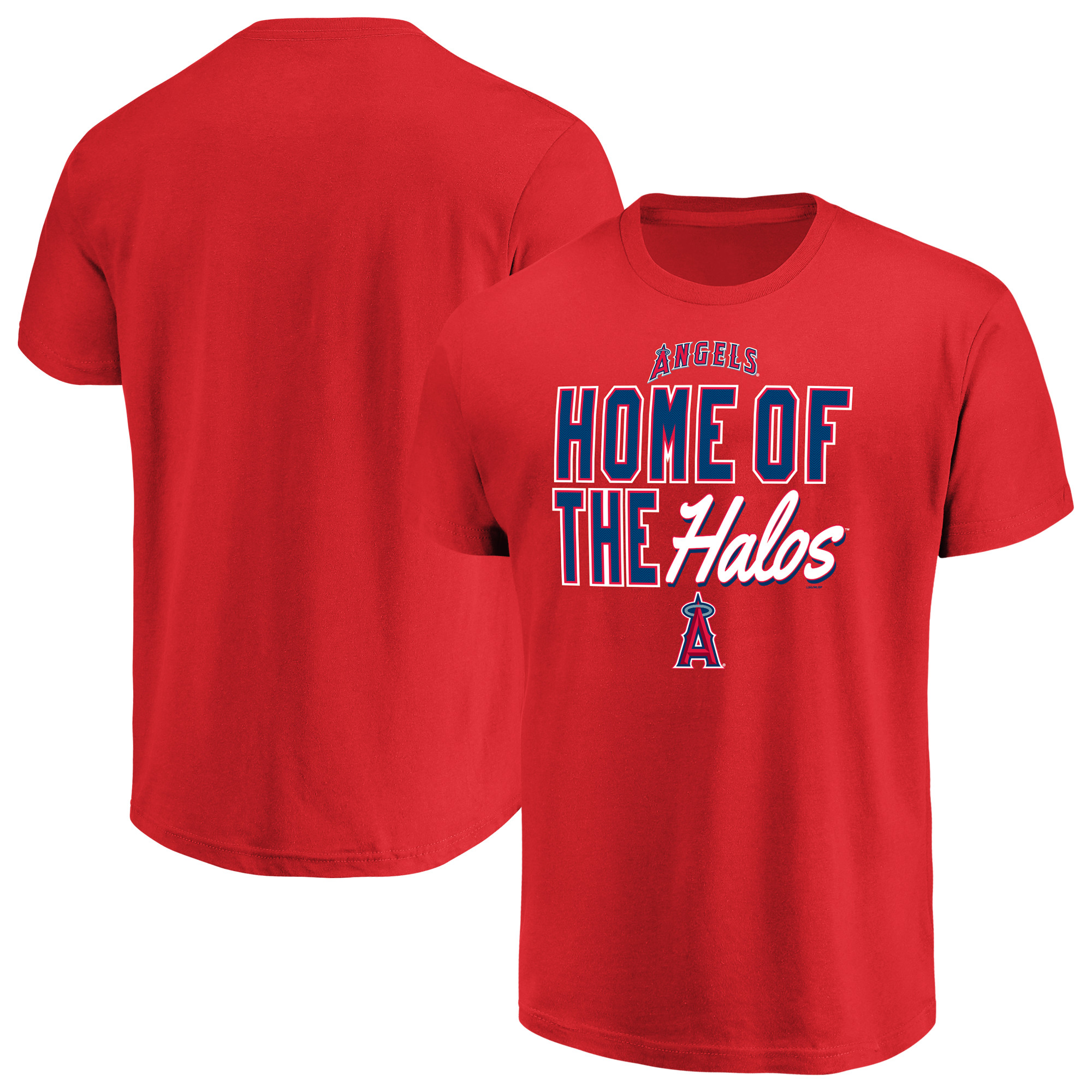 Men's Majestic Red Los Angeles Angels Alias T-Shirt
