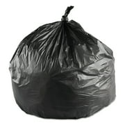 Inteplast Group High-Density Trash Bag, 24 x 33, 16-Gallon, 6 Micron, Black, 50/Roll