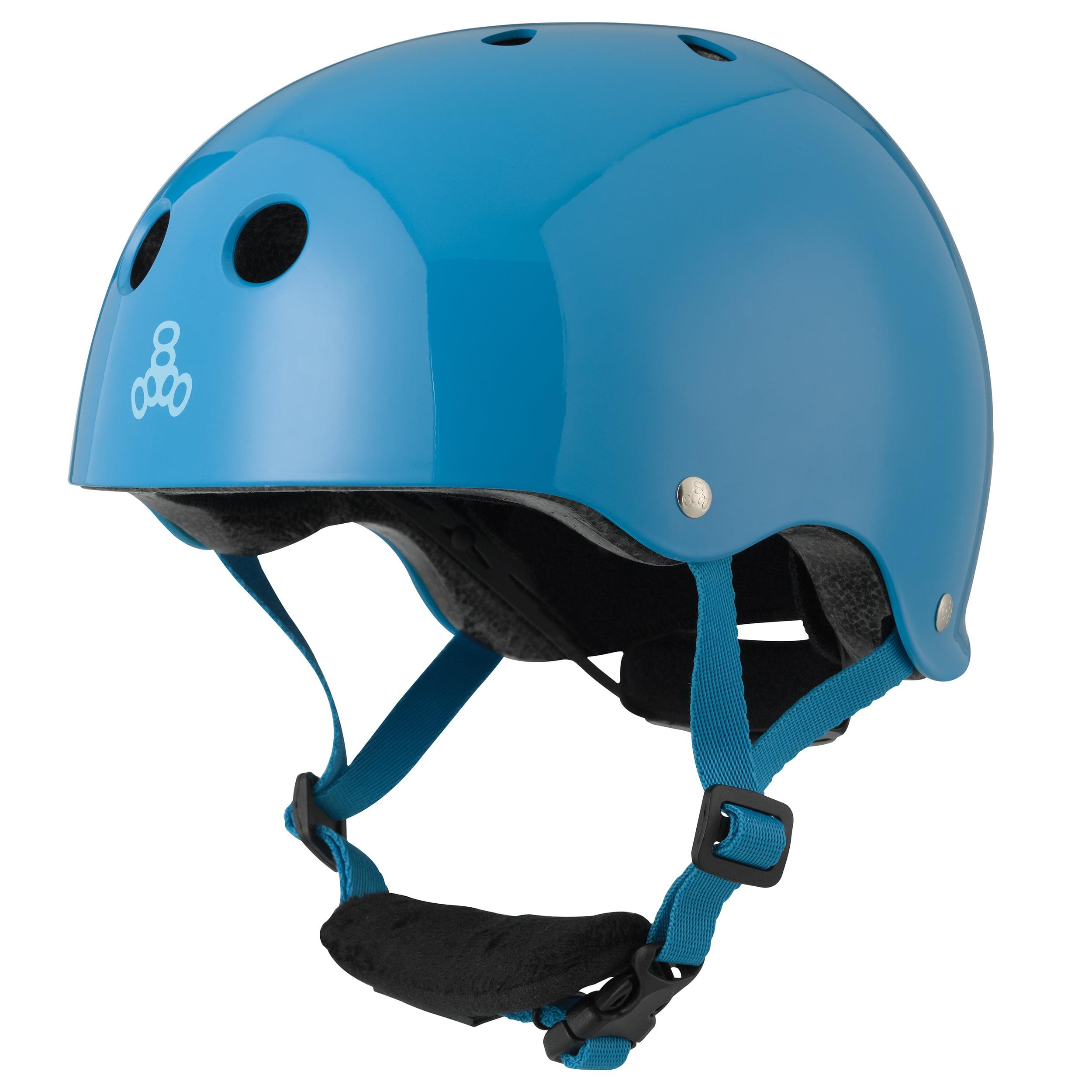 Triple 8 Lil 8 Dual Certified Blue Glossy Toddler Bike & Skate Helmet, 5T