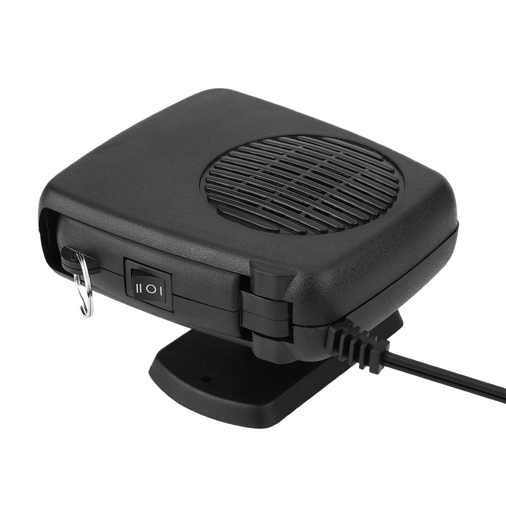Qiilu Car Defroster 12V 150W Car Portable 2 in 1 Ceramic Heating Cooling Heater Fan Defroster Demister Universal