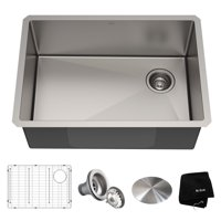 KRAUS Standart PRO™ 27-inch 16 Gauge Undermount Single Bowl Stainless Steel Kitchen Sink