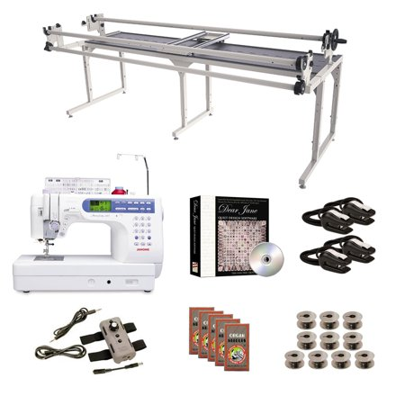 Grace Speed Control - Janome MC6500P Grace 8' Continuum with Speed Control Machine Quilting Combo 6