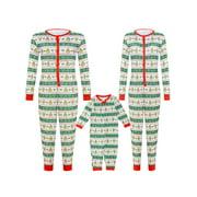 Family Matching Xmas Pajamas Set Women Kid Adult PJs Sleepwear Nightwear Home Wear