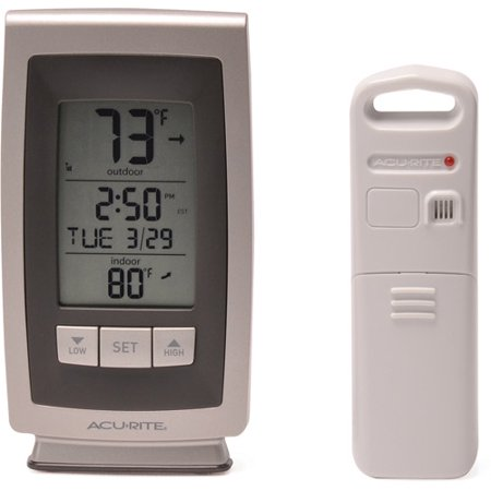 AcuRite Wireless Weather and Intelli-Time Clock (Best Wireless Thermostat Uk)