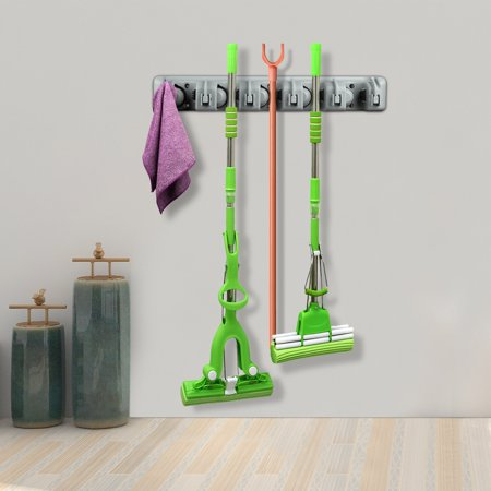 5 Position Wall Mounted Mop Broom Holder