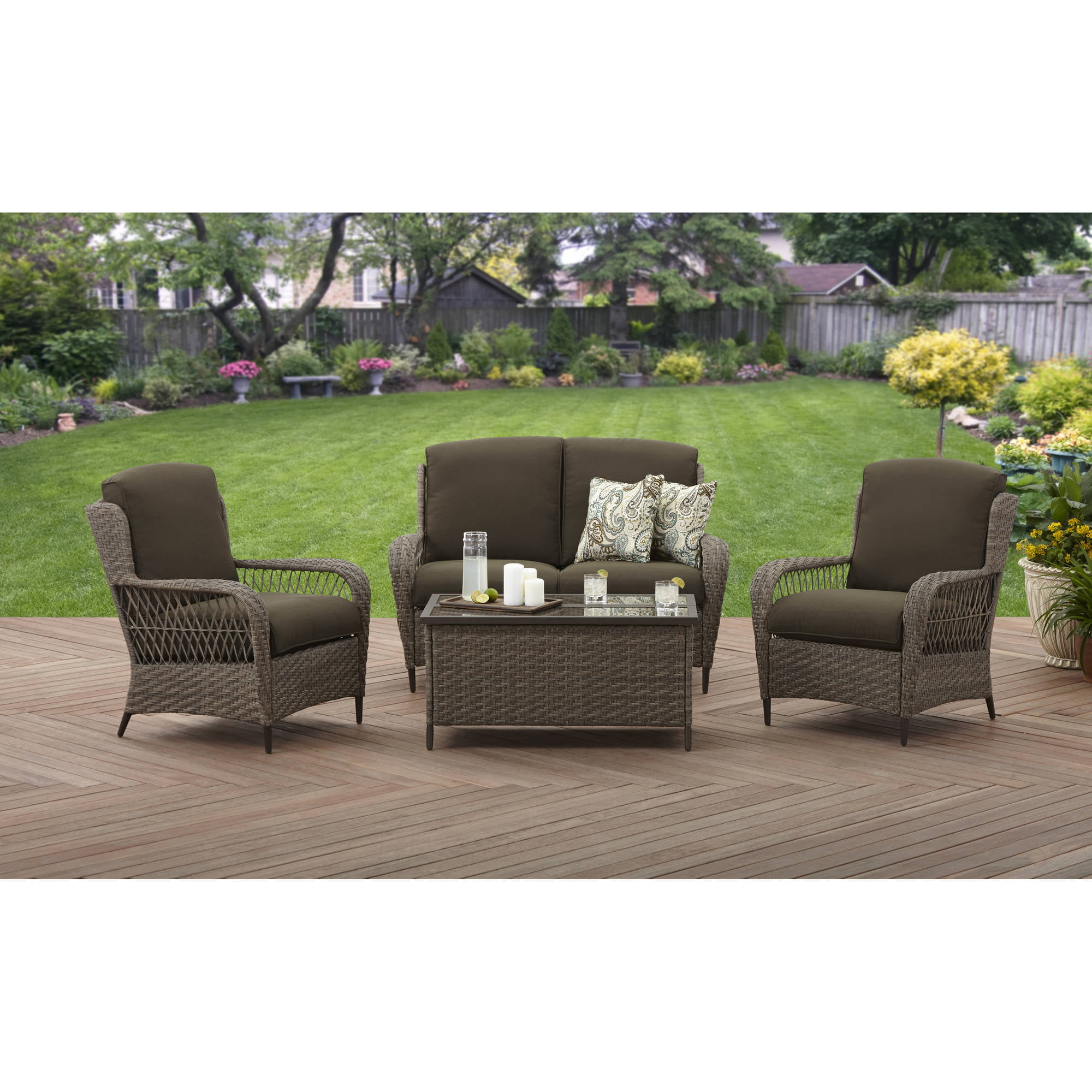 Better Homes and Gardens Manaville Wingback 4 Piece Conversation