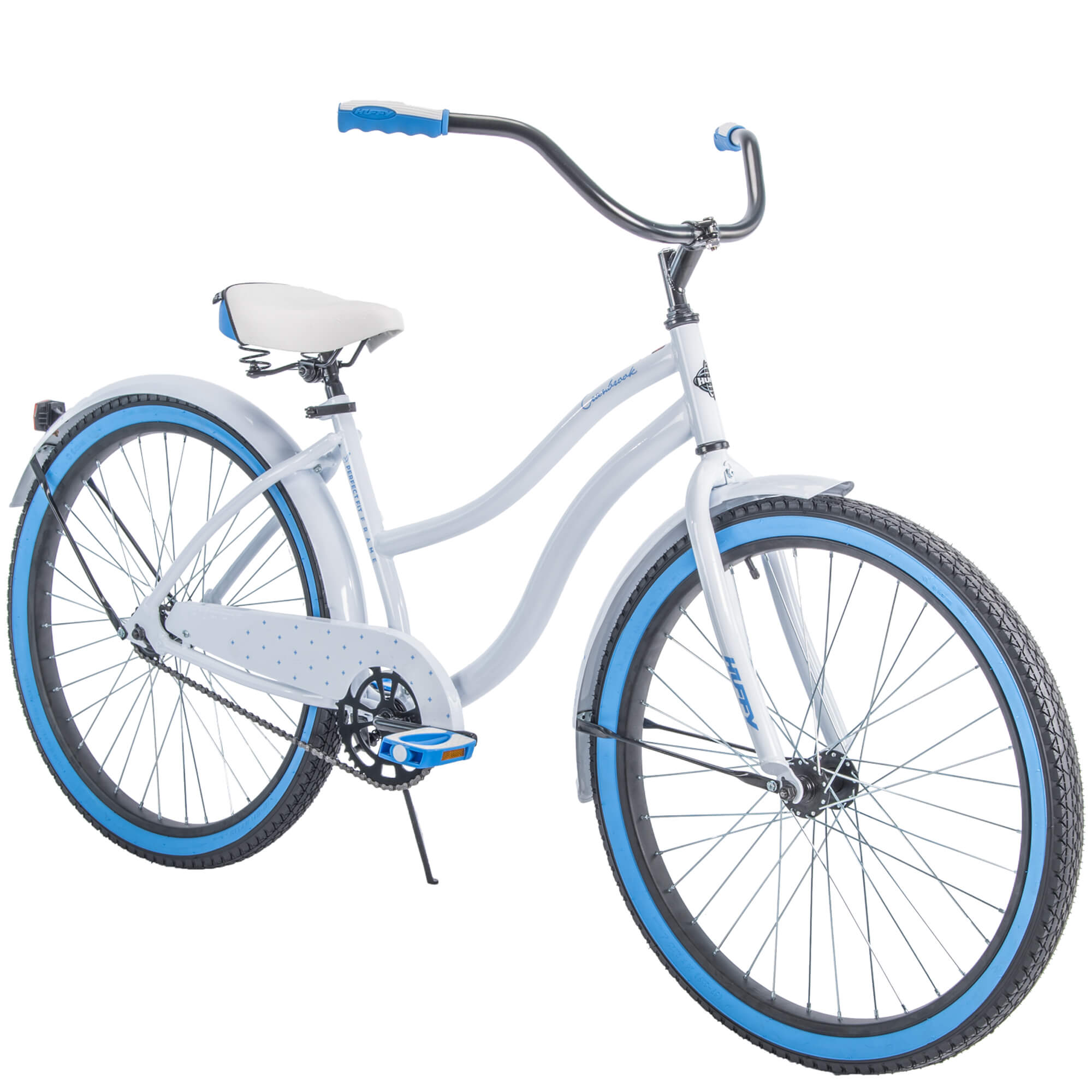"Huffy 26"" Cranbrook Womens Cruiser Bike with Perfect Fit Frame, White"