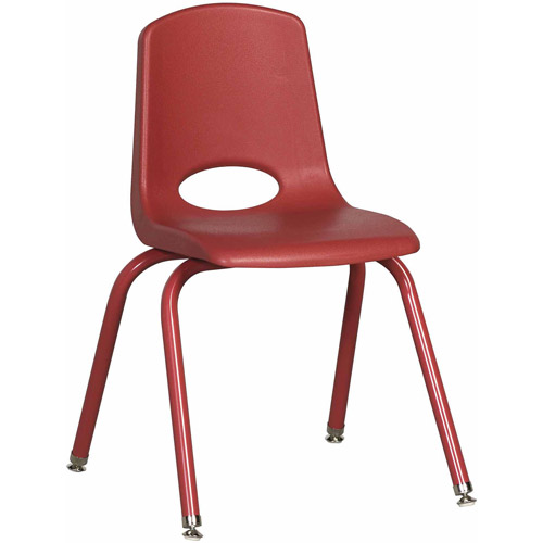 ECR4Kids 6pk School Stack Chair, Powder Coated Legs, Multiple Colors/Sizes/Types