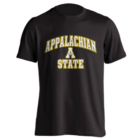 Appalachian State University ASU Mountianeers Arch Mascot Black Short Sleeve T-Shirt ()