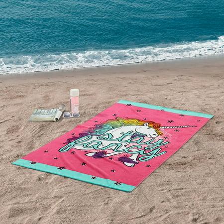 Mainstays Unicorn Oversized Beach Towel - 34