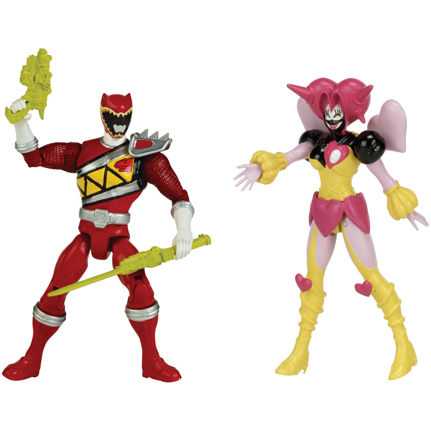 Bandai America Power Rangers 5 Inch Action Figure Good vs Evil, DSC Red vs DSC Poisondra by Bandai America