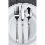 Winco Regency 3 Dozen Flatware Set, Extra Heavy 18-0 Stainless Steel Classic Old-Fashioned Dinner Spoons (Dozen Pack), Dinner Forks (Dozen Pack) and Dinner Knives (Dozen Pack), 36-Piece Set