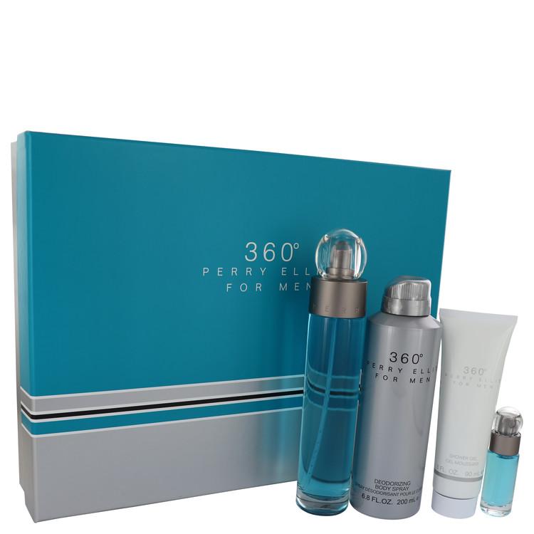 Gift Set - 3.4 oz Eau De Toilette Spray + .25 oz Mini EDT Spray + 6.8 oz Body Spray + 3 oz Shower Gel