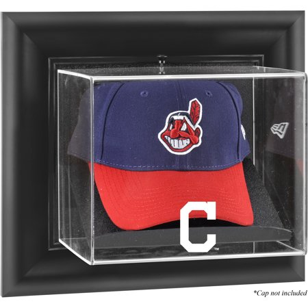 Cleveland Indians Case - Cleveland Indians Fanatics Authentic Black Framed Wall-Mounted Logo Cap Display Case - No Size