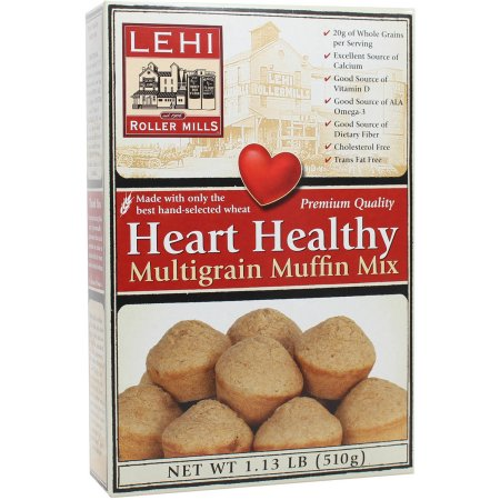 Lehi Roller Mills Heart Healthy Multigrain Muffin Mix (Pack of 12)