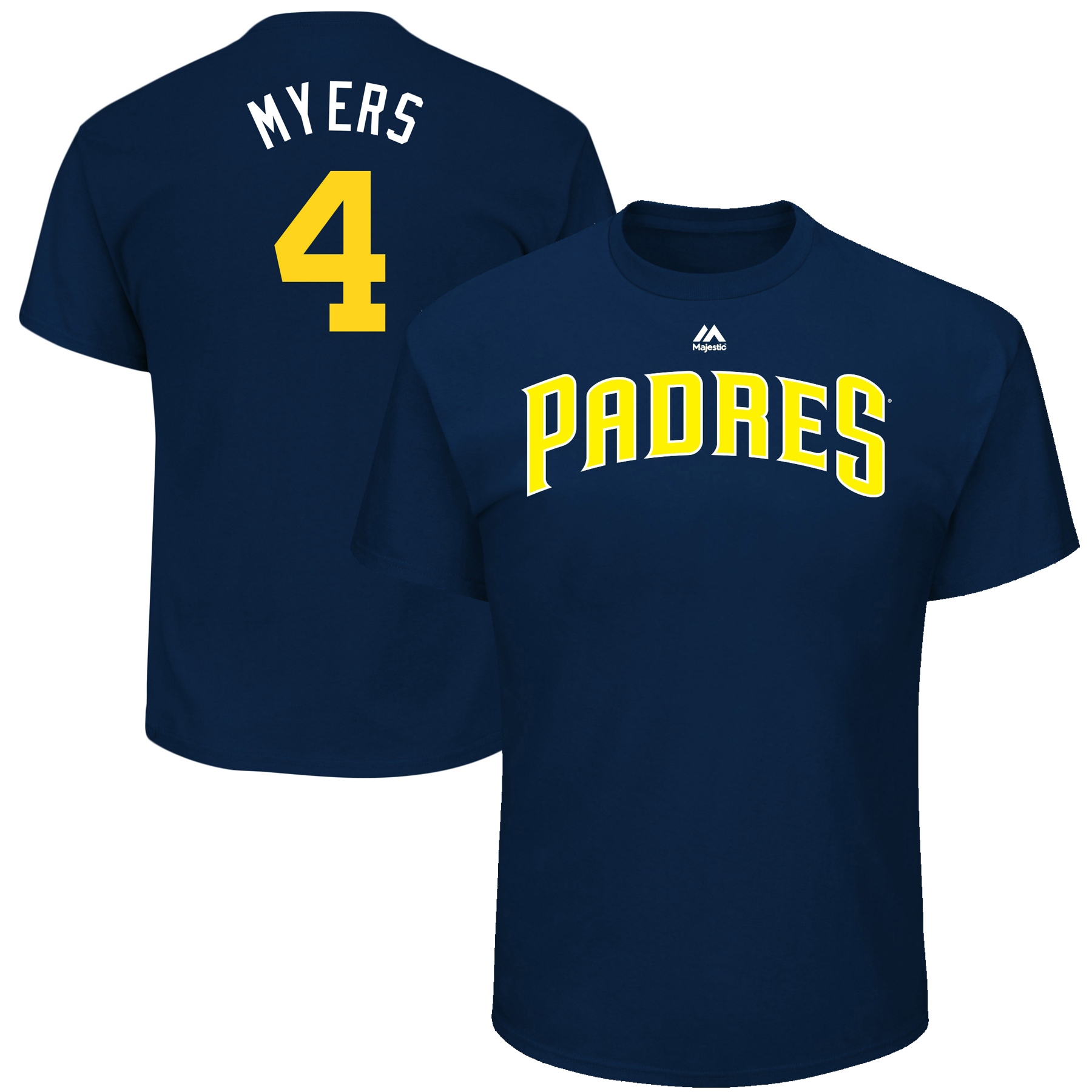 """Wil Meyers """"Myers"""" San Diego Padres Majestic Youth 2017 Players Weekend Name & Number T-Shirt - Navy"""