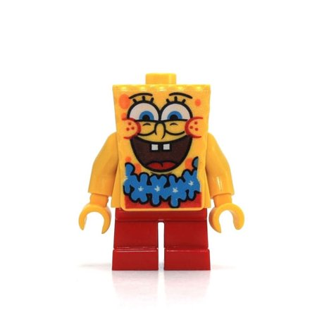 LEGO Minifigure - Spongebob Squarepants - SPONGEBOB with Blue Lei