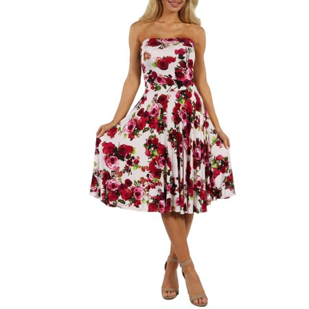 24/7 Comfort Apparel Women's Sweet Climbing Rose Dress