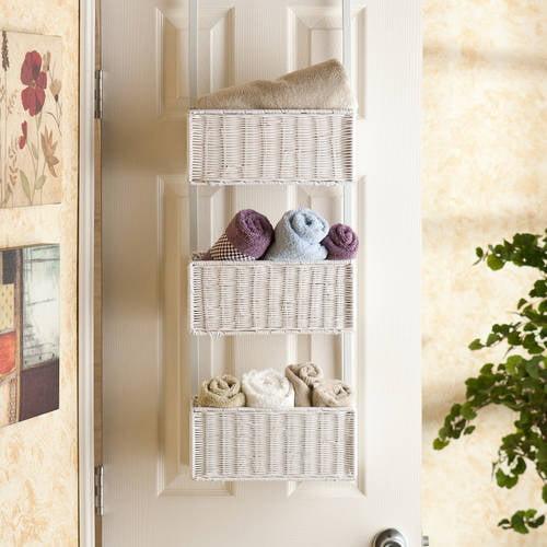 Southern Enterprises Over-The-Door 3-Tier Basket Storage