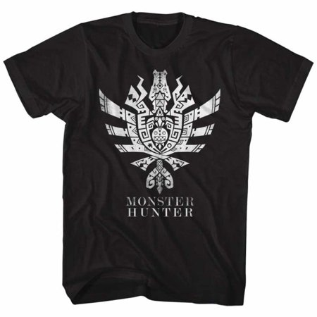 Monster Hunter Gaming Mh4U Symbol Adult Short Sleeve T - Gaming Costumes