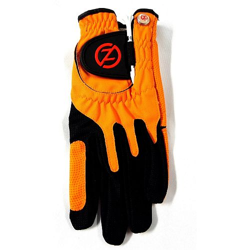 Zero Friction Performance Glove (RIGHT, ORANGE) UNIVERSAL ONE SIZE FIT Golf NEW
